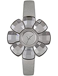 DKNY Floral-Shaped Leather Strap Womens watch #NY2120