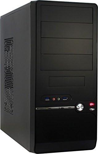 Inter-Tech Starter 4 Carcasa de Ordenador Midi-Tower Black - Caja de Ordenador (Midi-Tower, PC, ATX,uATX, Negro, Hogar/Oficina, 14,5 cm): Amazon.es: Informática