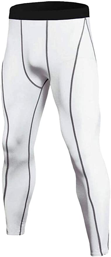 WSPLYSPJY Mens Compression Pants Baselayer Cool Dry Sport Tights Camo Leggings