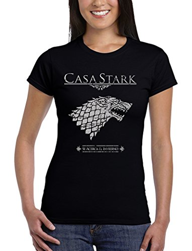 162 Thrones of Game Medium Stark zwart Woman shirt House qUrqH