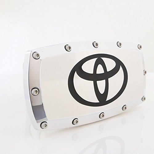 Toyota Black Hitch - Toyota Logo Billet Aluminum Tow Hitch Cover