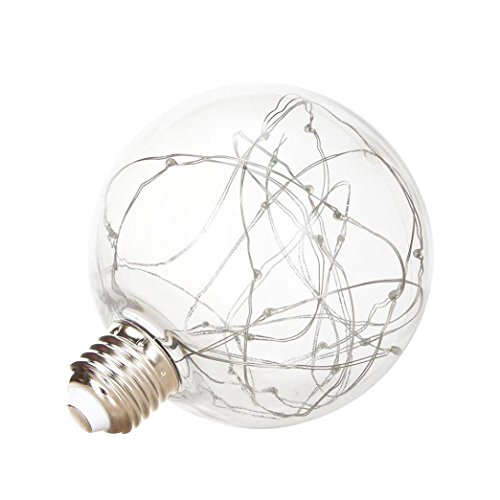 Mchoice Christmas LED Light Bulb E27 Starry Fairy String Xmas Party Lamp Bulb Home Decor (White) (Bulbs Light Fairy)