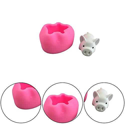 Ruikey Pig Shape Silicona Mould Moldes 3D Para Decoraci/ón De Tartas Moldes De Silicona Animales Molde Silicona Fondant Para Decoraci/ón De Pasteles