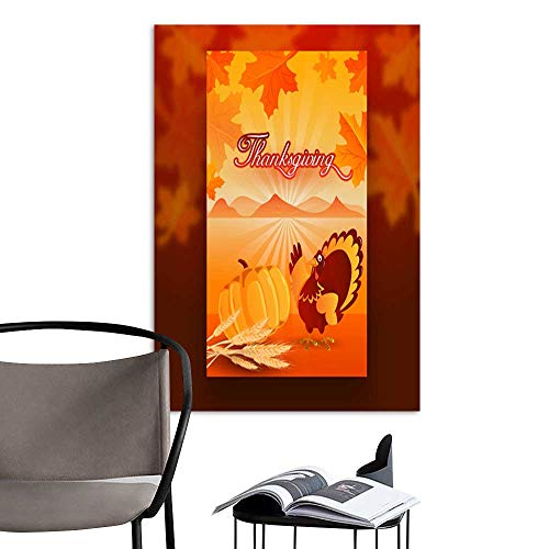 Canvas Wall Art Painting Thanksgiving template or flyer