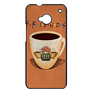Hipster Coffee Cup Design TV Show Friends Phone Case Cover for Htc One M7 Fiends Fashionable