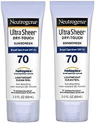 Neutrogena Ultra Sheer Dry-Touch Sunscreen SPF 70 3 oz (Pack of 2)
