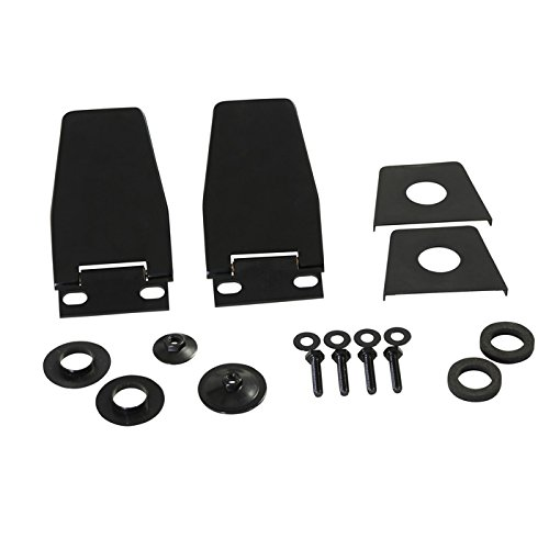 Kentrol 50516 Hardtop Liftgate Hinges for 1987-2006 YJ and TJ (Wrangler Hinge Windshield Jeep)
