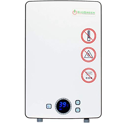 Sio Green IR288 POU Electric Tankless Water Heater - Infrared Tank-Less Instant Hot Water Heater - Cost Effective & Corrosion-Free - No Lime Scale