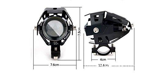 GOODKSSOP 2pcs Super Bright 3000LM CREE U5 125W LED Motorcycle Universal Headlight Work Light Driving Fog Spot Lamp Night Safety Headlamp + 1pcs Switch (Black) by GOODKSSOP (Image #1)
