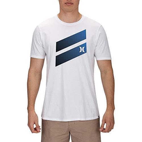 Hurley Men's Premium Icon Slash Gradient T-Shirt, White/Black XXL