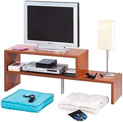 SIMMOB curma122md – Mueble TV Panel de Madera/melamina Cerezo 35 x 123 x 45 cm: Amazon.es: Hogar