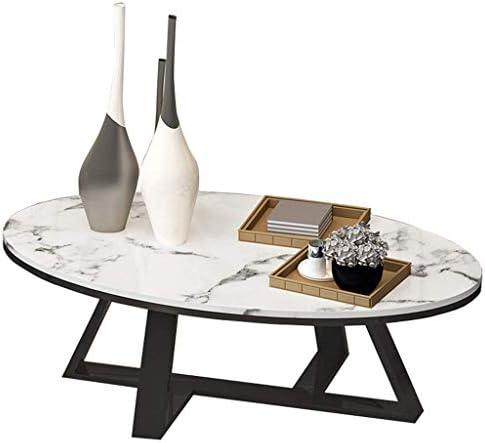2020 Nieuwste GWFVA Möbel, ovaal, moderne salontafel, cocktailtafel, gouden smeedijzeren bijzettafel, 80 × 40 × 45 cm, woonkamer  DmHHDTF