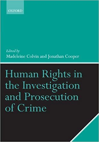 Book Human Rights in the Investigation and Prosecution of Crime by Madeleine Colvin (2010-01-11)