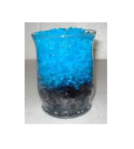 Aqua Blue Crystal Flower (14 Gram Package Crystal Accents Water Crystals - For Crafts, Flowers, Plants, & Candle Creations for Your Home Decor, Events & Wedding Parties (Sapphire Blue))