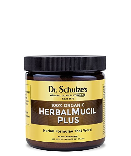 Dr. Schulze's | HerbalMucil Plus | Natural Constipation Relief | Colon Cleanse Powder | Dietary Supplement | Detoxify Gastrointestinal Tract | Reduces Stomach Irritation & Inflammation | 8 Oz Jar