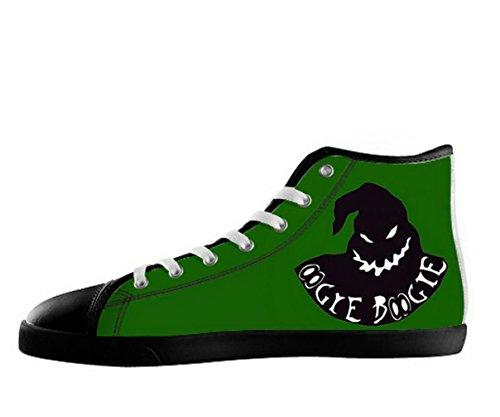 Et Førjulsmareritt Logo Menns Sklisikker Svarte Høy Topp Sko Tnbc Lerret Shoes18