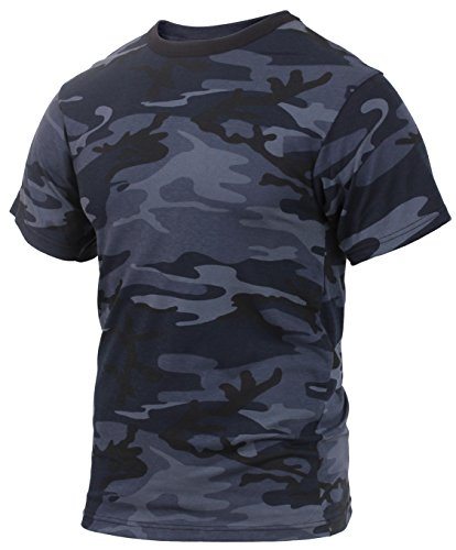 Rothco Colored T-Shirts, Midnight Blue Camo, ()