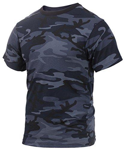 Rothco Camo T-Shirts, Midnight Blue Camo, ()