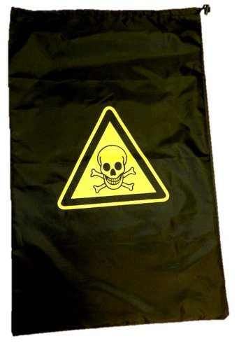 Flat Pack Laundry Bag - with Toxic Warning. Suitable for travel B008S9GB58