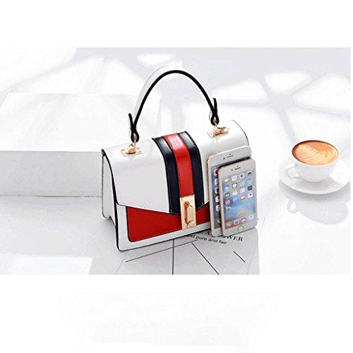 Bolso de la Color Bag de St Great Hombro Contraste Bag con Messenger Blanco Pequeño Color DGF Sra Bolso Blanco de tYPFpRqnp