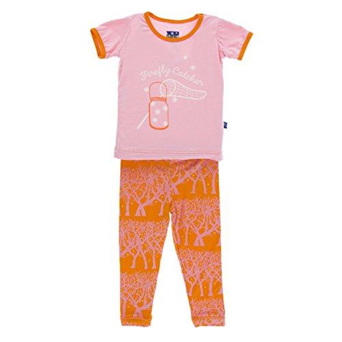 9aa664b0e Galleon - Kickee Pants Print Short Sleeve Pajama Set Sunset ...