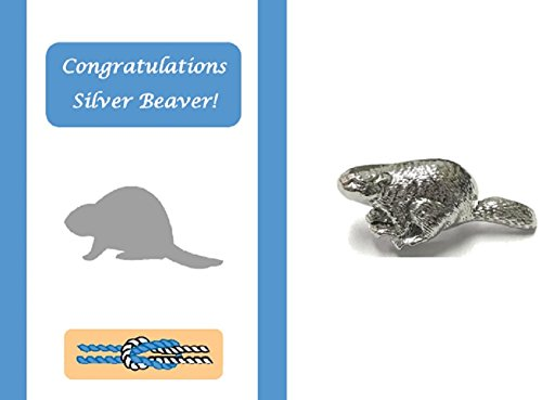 Silver Beaver Congratulations Card and Lapel Pin Gift Set ()
