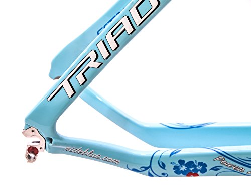 Blue Triad EX Carbon 55.5cm Women's Triathlon / TT Bike Frame Fork 700c NEW
