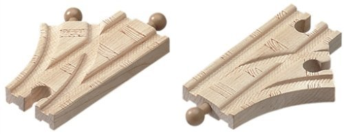 Thomas & Friends Wooden Railway - 3-1/2 Inch Single Curved Switch Track (2 pieces) by Learning Curve ()