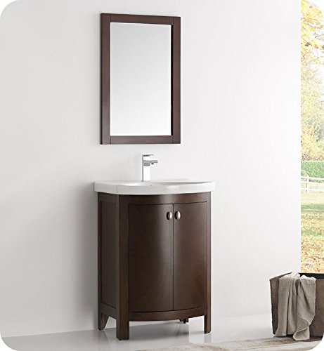 Fresca Greenwich 24″ Antique Coffee Traditional Bathroom Vanity For Sale