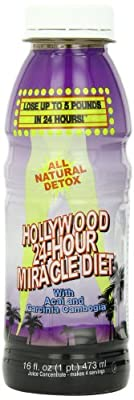 Hollywood All Natural 24-Hour Miracle Diet, 16-Ounce Bottles (Pack of 3) by Hollywood Miracle Diet