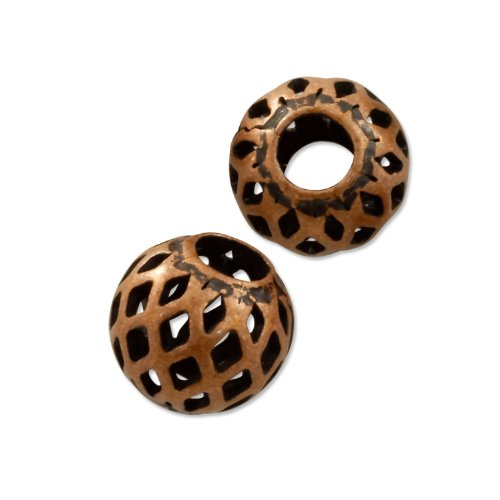 (Round Filigree Bead 6mm Antique Copper Plated (Package of 10 Beads))