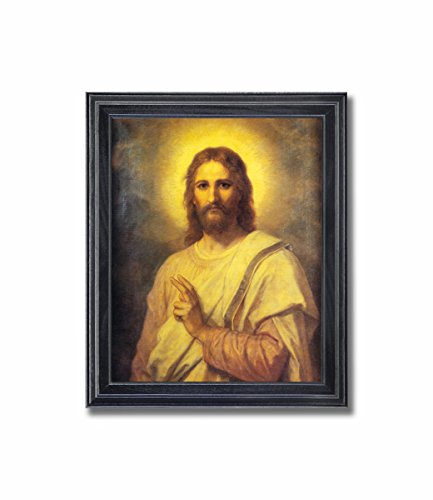 Jesus Christ Radiating Light Religious Wall Picture Framed Art Print Photo Jesus Christ
