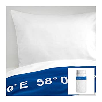 Ikea Lisel 100 Baumwolle Bettwasche Garnitur Kissenbezug Decke