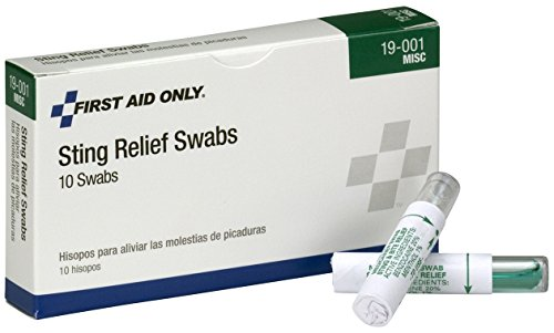 Pac-Kit by First Aid Only 19-001 Sting Relief Swab (Box of 10) (Refill First Aid Kit)