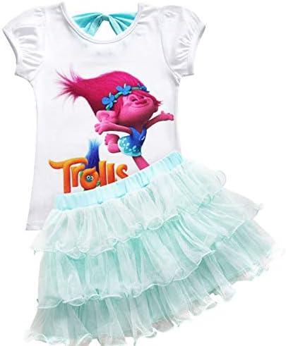 QYS Conjunto de Falda y Camisa de Dibujos Animados con Traje de 2 ...
