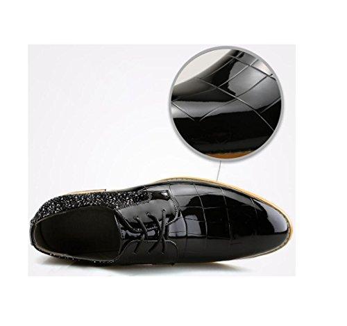 A Bean Morbido Business Uomo Oxford da Traspiranti Rete Scarpe Scarpe Pigro Tonda Fondo Casual Black Scarpe da Punta IgC7wq7