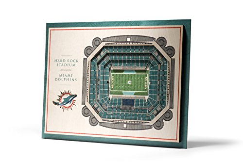 Dolphins 5-Layer StadiumView 3D Wall Art ()