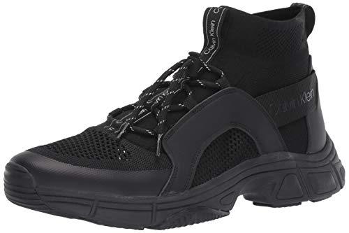 Calvin Klein Men's Delton Shoe, Black Nappa Smooth Leather, 11.5 M US