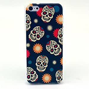 JAJAY Cool Skull Daisy Pattern Hard Case for iPhone 5C