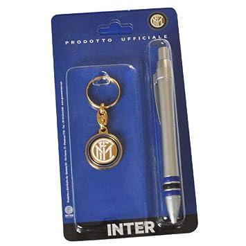 Inter - Juego de bolígrafo y Llavero con Logotipo del F.C ...