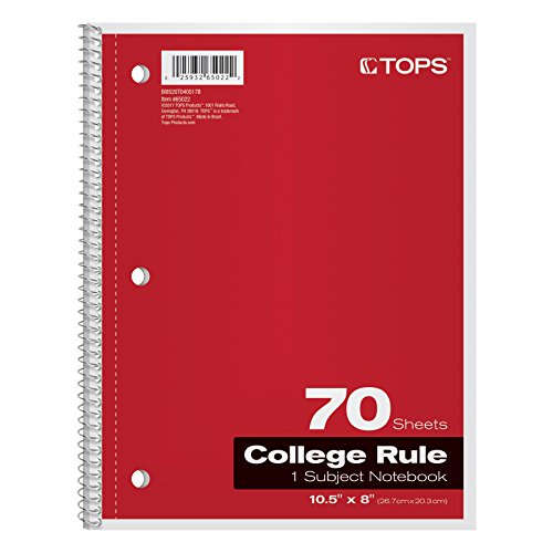 Top 10 best spiral notebooks college ruled 3 subject for 2019