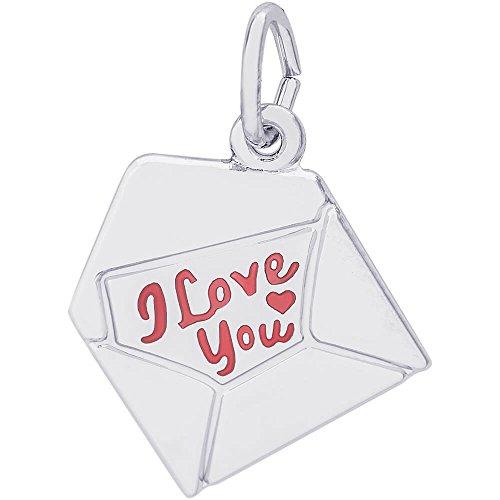 Enamel Love Letter Charm - 9
