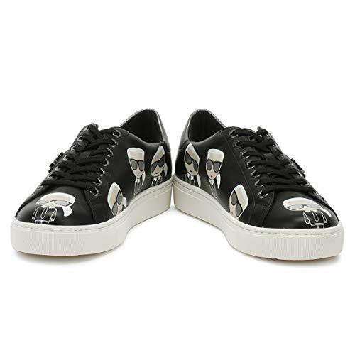 Kupsole Lagerfeld Bianco Sneaker Black Karl Lace Lo Donna Multikonic 1P5z7nqw