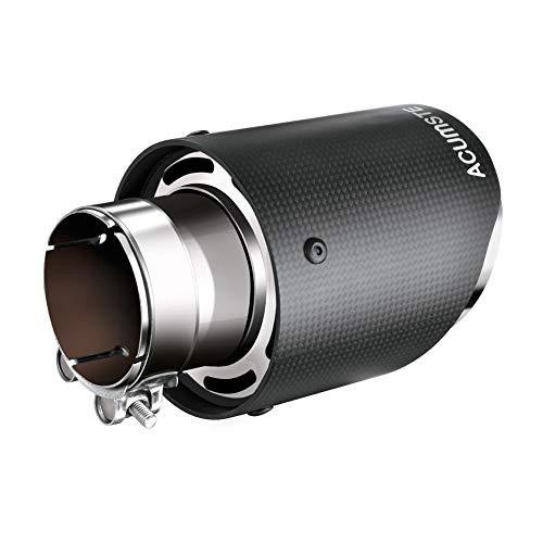 ACUMSTE Carbon Fiber Exhaust Tip Pipe Universal Muffler End Tip, Inlet 2.5