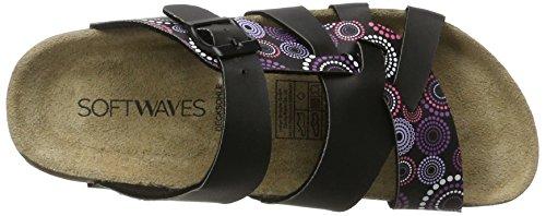 Softwaves 274 483 - Mules Mujer Schwarz (Black)