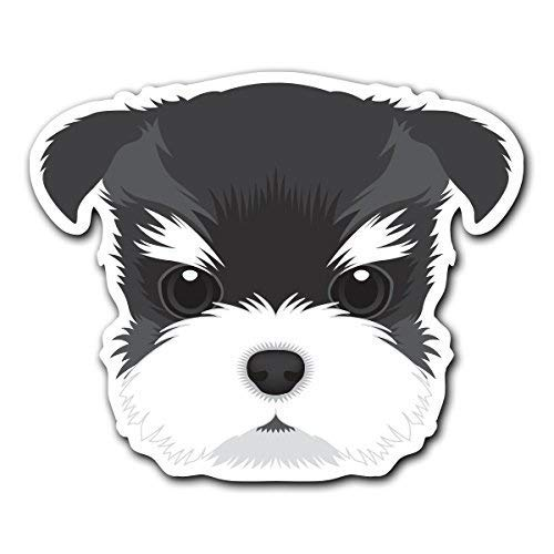 (MFX Design Magnet Schnauzer - Dog Breed Decal Sticker for Car Truck Magnet car Truck Magnetic Vinyl Sticks to Any Metal surface5.4 in x 4.5 in (13.7 cm x 11.4 cm))