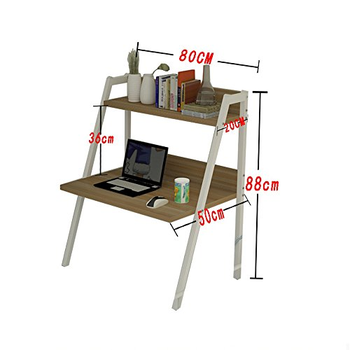 College Students Dorm Room Learning Table Assembly Laptop Desk Items Placed Shelves Double Layer ( Color : 5# ) by PM Folding tables (Image #1)