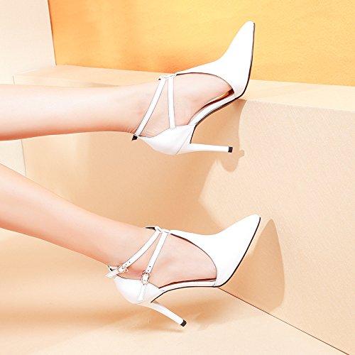 Boucles Talon Des Seul Haut SSBY eight Trébuchant Thirty Sharp Creux Chaussures Sandales xq7OfC
