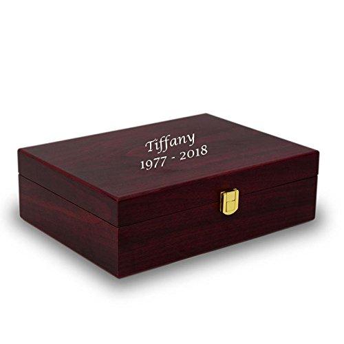 Memory Box Wood Keepsake Box - Large Red Memory Chest - Custom Engraving Included