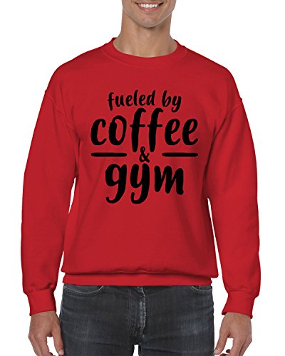 Price comparison product image Fueled By Coffee & Gym Crewneck Sweater,  SpiritForged Apparel,  Red Small